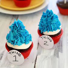 dr seuss cupcakes dr seuss thing 1 and 2 cupcakes tastespotting