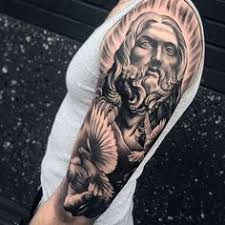 praying and leg as part of a religious leg sleeve