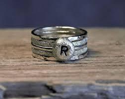 Custom Monogram Rings Custom Letter Ring Etsy