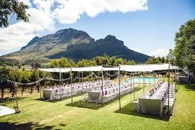 outdoor wedding reception venues outdoor celebration of colour winelands wedding