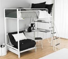 White Futon Bunk Bed Loft Bed Concept With Study Table And Folding - White futon bunk bed