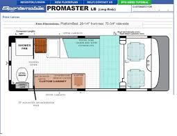 floor plan help 3500 floor plan idea ram promaster forum