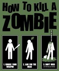 Funny Zombie Memes - how to kill a zombie funny meme picture zombie funny pinterest
