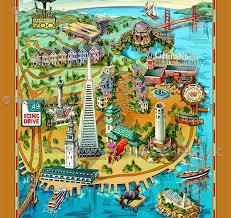 san francisco map it san francisco map illustrative maps