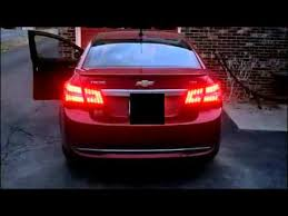 2013 Chevy Cruze With Technostalgia Led Tail Lights Youtube