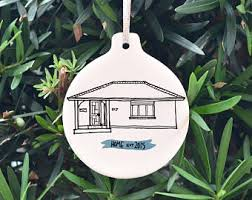 custom house ornament etsy