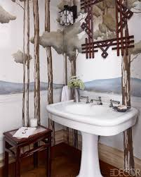 Wallpaper Designs For Walls by 15 Bathroom Wallpaper Ideas Wall Coverings For Bathrooms Elle