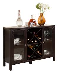console table with wine storage espresso wood wine rack breakfront sideboard display console table