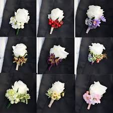 wedding flowers groom discount corsage groom boutonniere artificial flower best