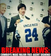 Dallas Cowboys Memes - nfl memes on twitter breaking news dallas cowboys sign uncle rio