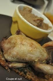 cailles sur canapé cailles sur canapé et purée de marrons coupe et cuit