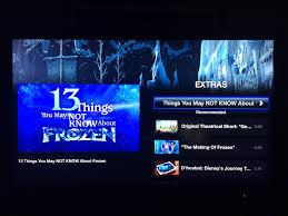 kids frozen apple tv itunes added extras