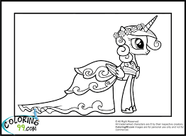 pony princess cadence coloring pages coloring pages