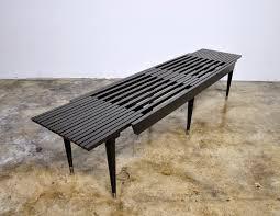 Slat Bench Select Modern Black Expandable Slat Bench Or Coffee Table