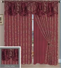 Sheer Burgundy Curtains Cheap Attached Valance Curtains Find Attached Valance Curtains
