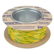 equipment hook up wire 7 0 2mm yellow green striped priced per 5