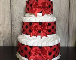 red diaper cake etsy
