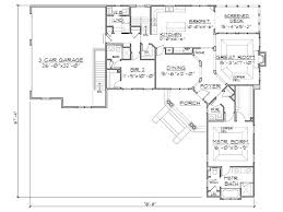 l shaped floor plan with angled front door dream home floor
