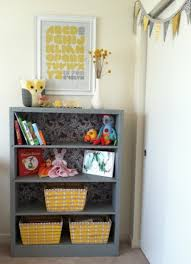 refinished bookshelf