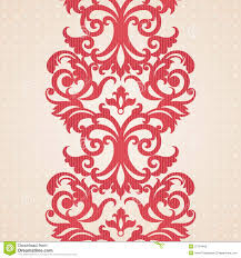 vector baroque border in victorian style royalty free stock photo