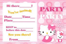 hello kitty birthday party invitation card template polka dot as