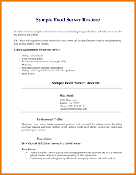 Serving Resume Template Resume Examples For Restaurant Jobs Resume Example And Free