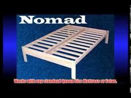 Nomad Bed Frame Nomad Solid Hardwood Platform Bed Frame Size