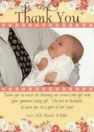 thank you card message baby gift thank you cards thank you baby