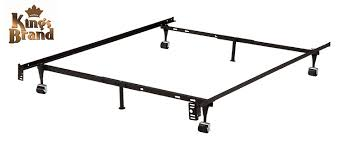 Bed Frame Metal Queen by Amazon Com 6 Leg Heavy Duty Metal Queen Size Bed Frame With Rug