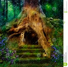 the house in the tree stock image image of goblins 29231375