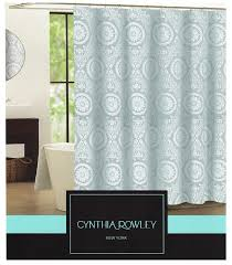 Paisley Shower Curtain Blue by Amazon Com Cynthia Rowley Clara Blue Grey Medallion On White