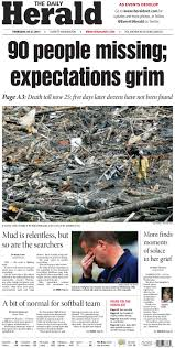 a look at the everett daily herald u0027s mudslide coverage charles apple