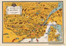 Quebec Map Animated Map Of Quebec Sold Antique Maps And Charts
