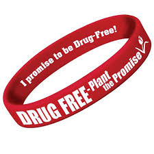 red silicone bracelet images Silicone bracelet red ribbon week drug free plant the promise jpg