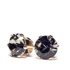 mens black diamond earrings 11 best black diamond earrings for men images on black