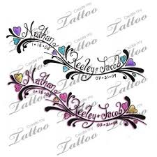 name tattoo ideas tattoo ideas with kids names tattoo