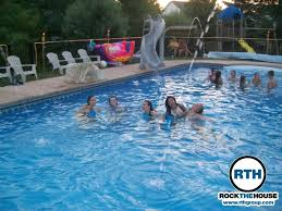 house pool party rock the house djs birthday pool party rock the house rock the house