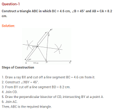 constructions ncert extra questions for class 9 maths