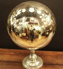 Copper Gazing Ball Large Antique Mercury Gazing Ball Olde Good Things