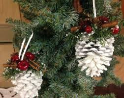 pinecone ornament pine cone ornament white pinecone handmade