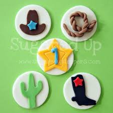 cowboy cake toppers www sugareduptoppers cowboy fondant cupcake toppers by