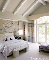 Curtain Color For Blue Walls Beautiful Rooms In Blue And White Traditional Home