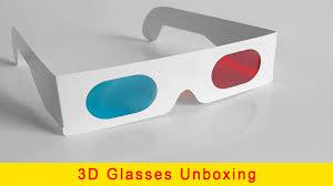 3d glasses unboxing anaglyph 3d