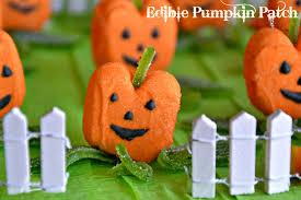 diy halloween candy displays with pumpkin peeps party ideas