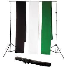muslin backdrops backdrop alley studio stand kit with muslin stdkt 12bwg b h