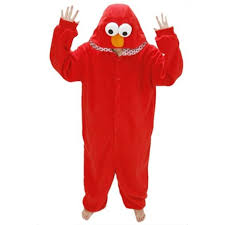 Halloween Jumpsuit Costumes Womens Flannel Sesame Street Elmo Halloween Jumpsuit Costume 30