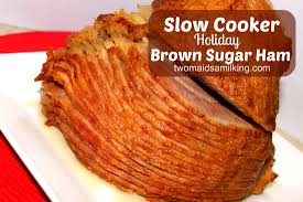 cooker brown sugar ham two a