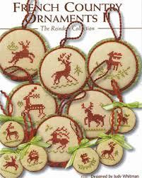 jbw designs country ornaments ii reindeer cross stitch