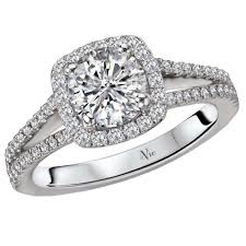 round square rings images 14kt white gold round cut square cushion diamond engagement ring jpg