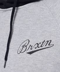 hoodies u0026 sweatshirts grey brixton fenway heather grey u0026 black